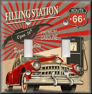 Metal Light Switch Plate Cover Historic Route 66 Decor