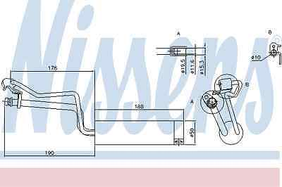 Nissens Receiver Dryer 95448 Fit with Nissan Qashqai/Qashqai +2
