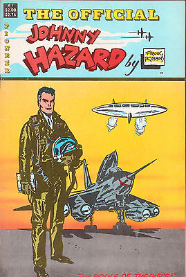The Official Johnny Hazard #1 Frank Robbins/Flying Saucers/1988 Pioneer Comics