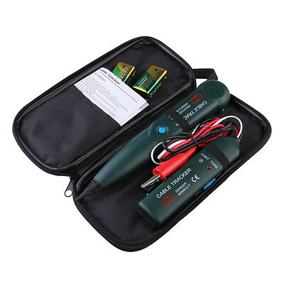 Multifunction Telephone Cable Tracker Network Wire RJ Toner Tracer Tester + Bag