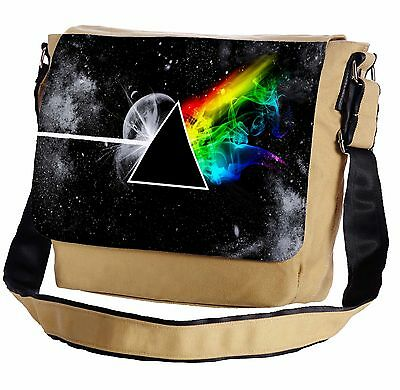Stylized The Dark Side Of The Moon Messenger Cross-Body Shoulder Flap Bag
