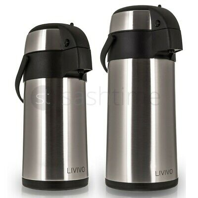 New 3L/5L Stainless Steel Airpot Hot Tea Coffee Drinks Vacuum Flask Thermos Jug