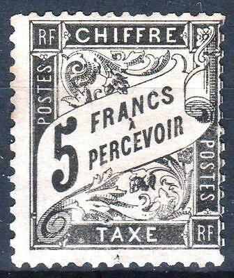 "FRANCE STAMP TIMBRE TAXE N° 24 "" TYPE DUVAL 5F NOIR "" NEUF (x) RARE A VOIR  M312"