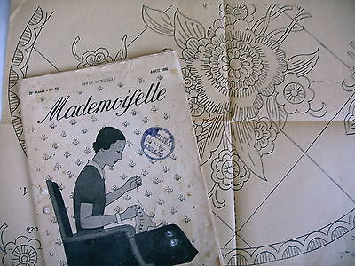 revue MADEMOISELLE n° 339 - 1935 broderie couture tricot