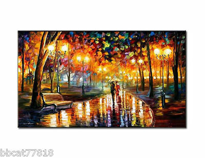 Huge Modern Abstract Large Wall Decor Oil Painting On Art Canvas,Park(No Frame)