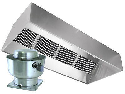 Restaurant Hood with Exhaust Fan 6ft Exhaust Only Vent Hood