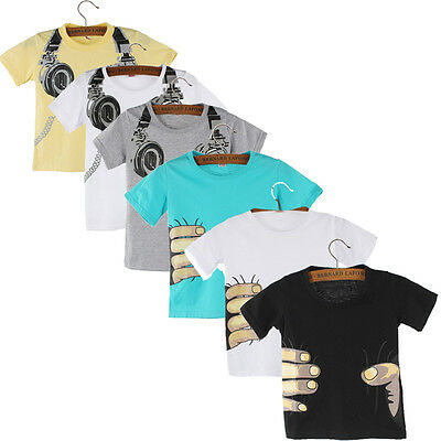 Boy T Shirt Kids Summer Shirt Short Sleeve Top Print Blouses Shirt Tees Clothes