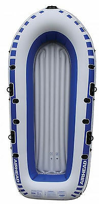 Airhead 4-Person Portable Lightweight Pond Lake River Inflatable Boat | AHIB-4