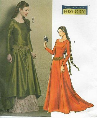 Sewing PATTERN for Camelot LOTR Medieval dress Butterick 4827 Maid Marion 14-20