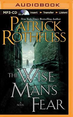 The Wise Man's Fear by Patrick Rothfuss (English) MP3 CD Book Free Shipping!