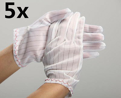 5Pairs Anti-Static Anti-Skid Gloves ESD PC Computer Repair Electronic Working