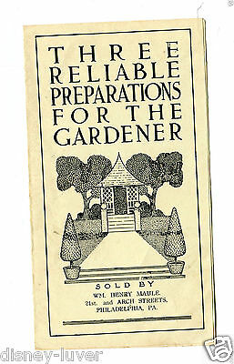 Vintage Garden Booklet 3 RELIABLE PREPARATIONS FOR THE GARDENER Henry Maule PhiL