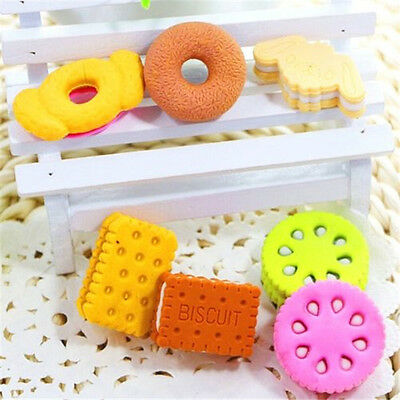 FD3875 Cute Donut Biscuts Eraser Rubber Pencil Stationery Child Gift Toy 5PCs ☆