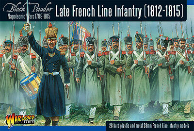 Warlord Black Powder Napoleonic Late French Line Infantry (1812-1815) WGN-FR-10