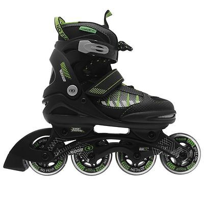 No Fear Kids Children Boys Edge Junior Inline Skates Roller Blades 4 Wheel