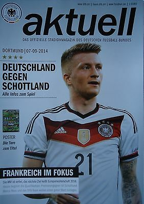 off. Programme 7/9/2014 Germany vs Scotland