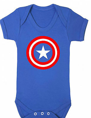 CAPTAIN AMERICA Baby girl red Bodysuit ,VEST,BABYGROW,ROMPER,BABY CLOTHES GIFT