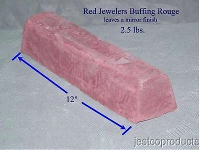 Jestco Buffing Polishing Compound - Red Jewelers Rouge Aluminum, Stainless Brass
