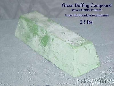 Buffing POLISH Compound GREEN Aluminum STAINLESS brass large 3 pound bar