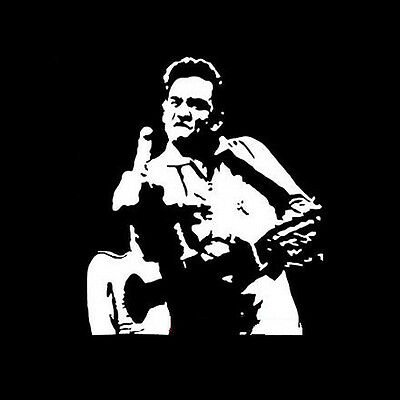 Johnny Cash T shirt middle finger country music legend fan of A Boy Named Sue