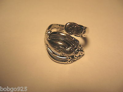 a806789c4 Ring Gorham Sterling Silver Spoon Ring Bypass Ornate Band Vintage Size 7.5