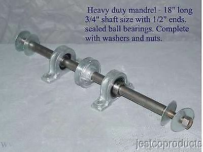 Mandrel for buffing grinding- sealed ball bearing pro