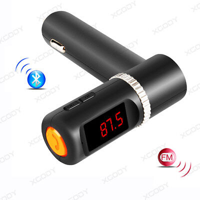 Handsfree Car Kit Bluetooth Car Charger FM Transmitter 3.1A USB Adapter To Phone