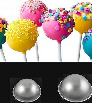 2pcs DIY Ball Fashion Sphere Bath Bomb Cake Pan Baking Mold Pastry Moulds Hot