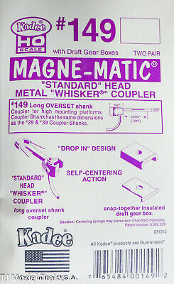 Kadee HO #149 Whisker Self-Centering Metal Knuckle Couplers - Kit - Magne-Mat