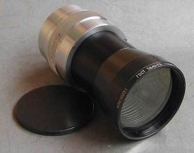 MMZ 35KP 1.8/120mm Soviet projection helicoid lens with M42 screw mount or Nikon
