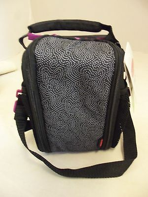 Rubbermaid Black Polka Dot Lunch Blox Insulated Box Bag With Strap New 1873221