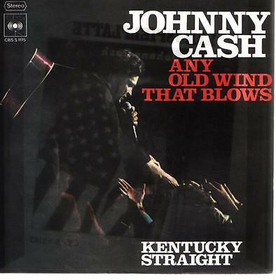 Cover Johnny Cash Any Old Wind That Blows 60`s CBS S 1115 (Only Cover)