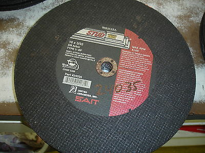 "SAIT Steel Cutting Wheel 10"" by 3/32"" by 5/8"" Hole  Cut Off  Wheel 24035 $14"