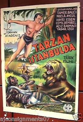 {Tarzan Istanbulda} In Istanbul Original Rare Turkish Movie Poster 1950s
