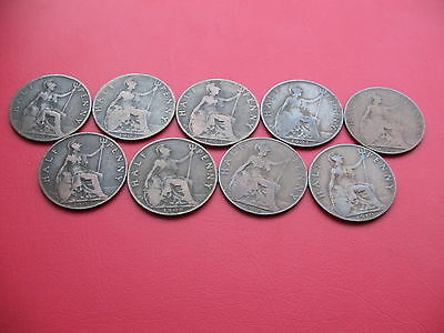 *rare* Complete Date Run Of King Edward Vii Half Pennies 1902-1910 Lot 2
