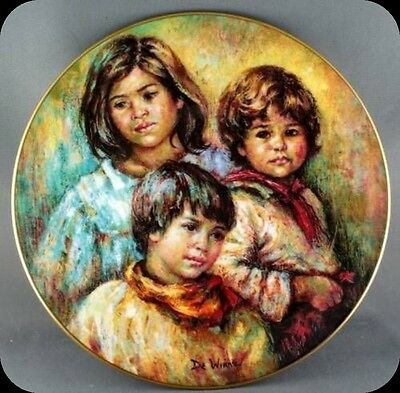 Lisette DeWinne Village Children Royal Doulton Collector Plate Limited 10000 PL