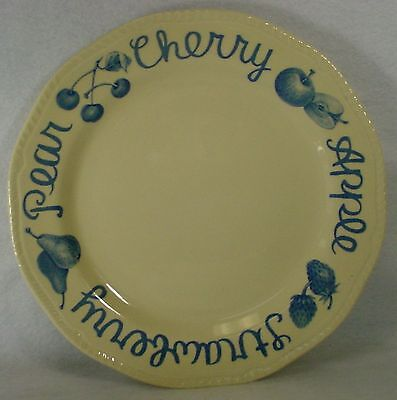 """WOOD & SONS china COUNTRY BLUE pattern DINNER PLATE 10-7/8"""" set of TWO"""