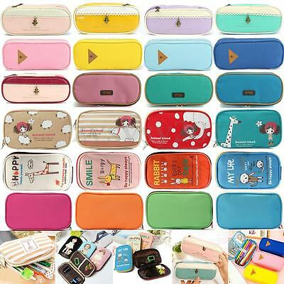 Stationery Pen Holder Storage Pencil Case Cosmetic Makeup Bag Travel Pouch Purse