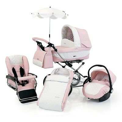 BabyStyle Prestige Classic Pram Package (Cameo) with FREE Car Seat