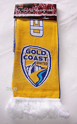 Gold Coast United Hyundai A League Adults Jacquard Scarf Football Soccer New