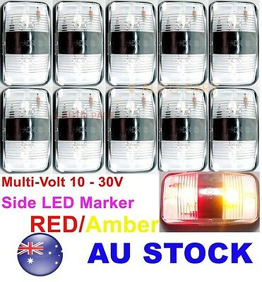 10X 12V 24V Red Amber Side LED Marker Light Lamp Clearance Trailer ADR AU STOCK
