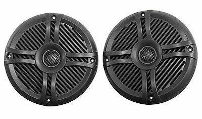 "Pair Rockville RMSTS65B 6.5"" 800w Waterproof Marine Boat Speakers 2-Way Black"