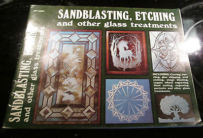 Sandblasting Etching  Other Glass Treatments Instruction & Pattern Book -