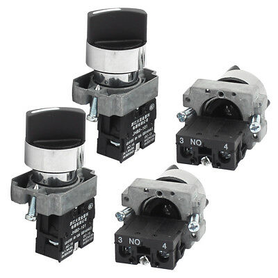 AC 415V 10A Latching 1NO 2 Positions Rotary Selector Switch 4PCS