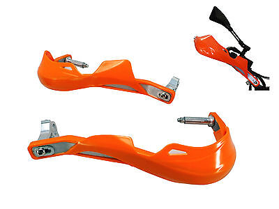 ORANGE Metal Hand Guards Handguards for all models of Honda XRV 750 Africa Twin