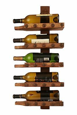Reclaimed Wall Wine Rack Holder-Old Wood-Rustic-Antique-13x28x5-Repurposed-WOW