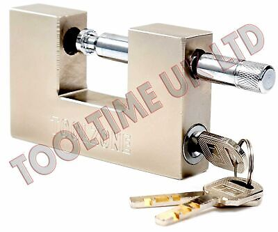 100Mm Heavy Duty Steel Shutter Padlock + 3 Security Keys Shop Container Lock