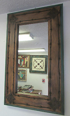 Turquoise Creek Old Ranch Medallion Barbed Wire Mirror--Mexican-22x36 -Western
