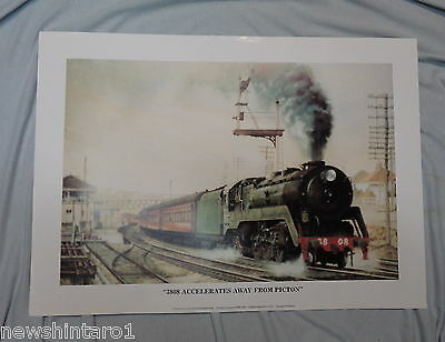 Approx. 120  Australian  Railway  Posters - 3808 Accelerates From Picton, Pickup