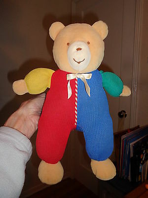 Eden Thermal Baby Bear Primary Colors Stuffed Animal RARE 12""